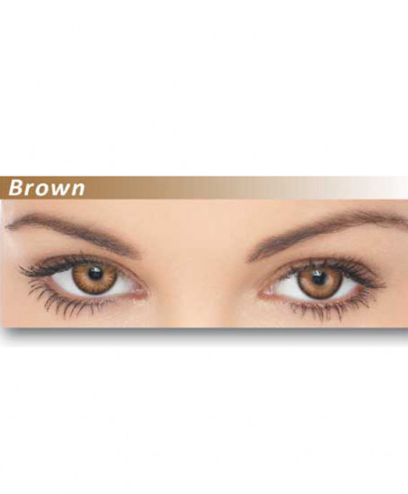 Dazzler Eyes Brown Power Less Contact Lenses