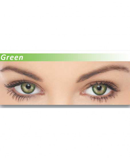 Dazzler Eyes Green Powered Contact Lenses
