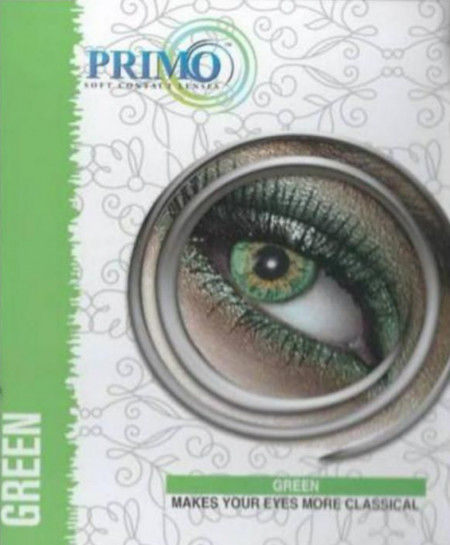 Primo Eyes Green Power Less Contact Lenses