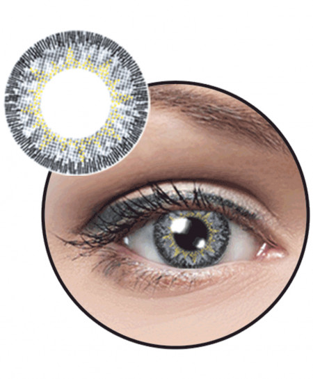 Optiano Eyes Cool Gray Powered Contact Lenses