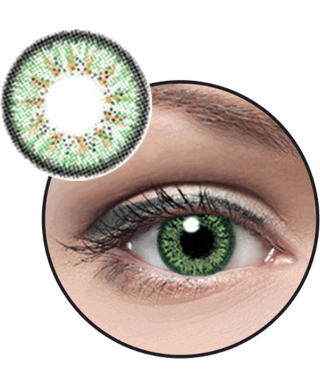 Optiano Eyes Green Powered Contact Lenses