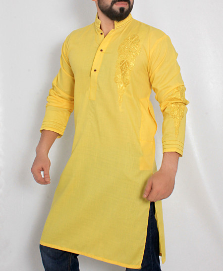 Yellow Front Embroidered Stylish Kurta ARK-979