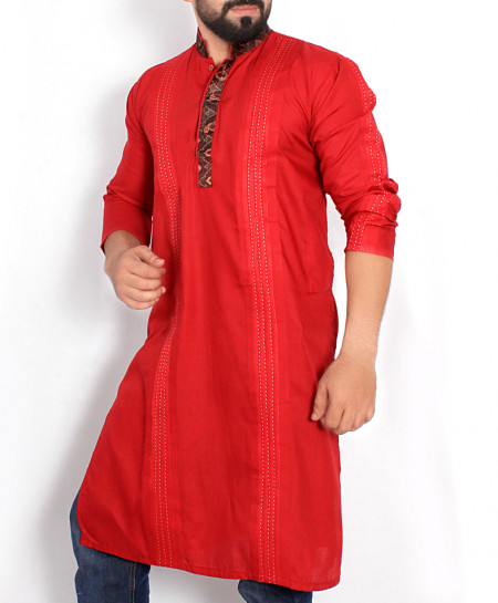 Red Stitched Design Stylish Kurta ARK-981