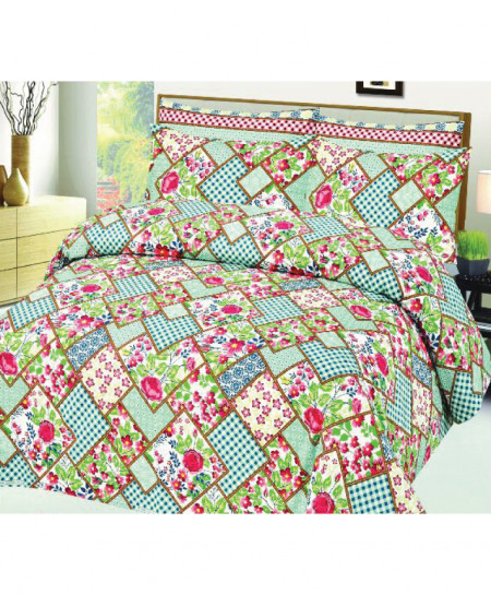 MultiColor Floral Style Cotton Bedsheet SY-527
