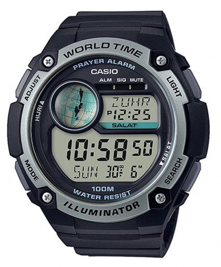 Casio CPA-100-1AV Prayer Time Alarm Series Wrist Watch