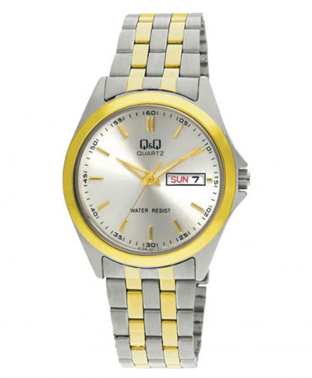 Q and Q Two Tone Wrist Watch A156-401