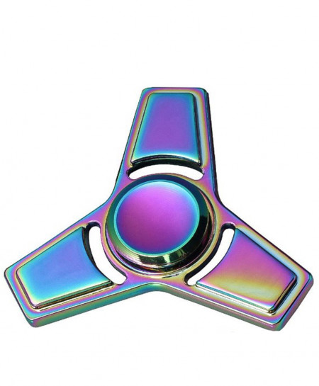 Colorful Fidget Spinner with 3 Metal Leaves