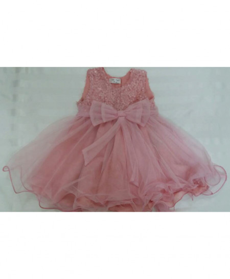 b26c3fa6c208 Buy Baby Pink Stylish Net Frock 4-5 Years LAC-GF021 online in ...