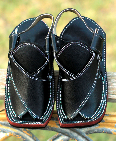 Black Stylish Kids Peshawari Sandals AK-2770