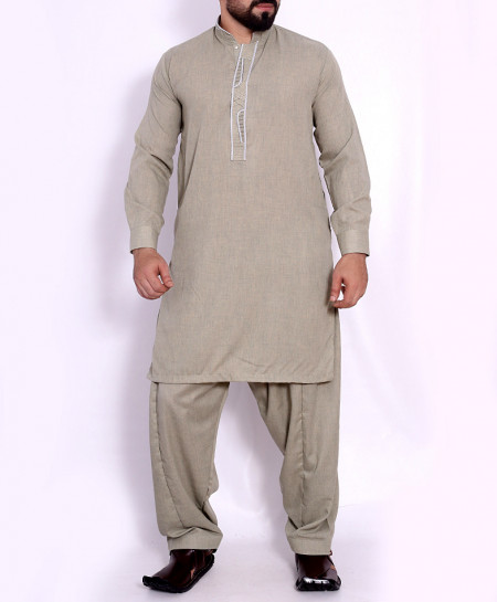Dull Green Stylish Design Kurta Shalwar SJL-031