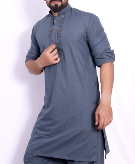 Grey Stylish Design Kurta Shalwar SJL-038