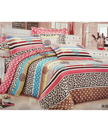 Multicolored Laser Print Cotton Bedsheet CB-052