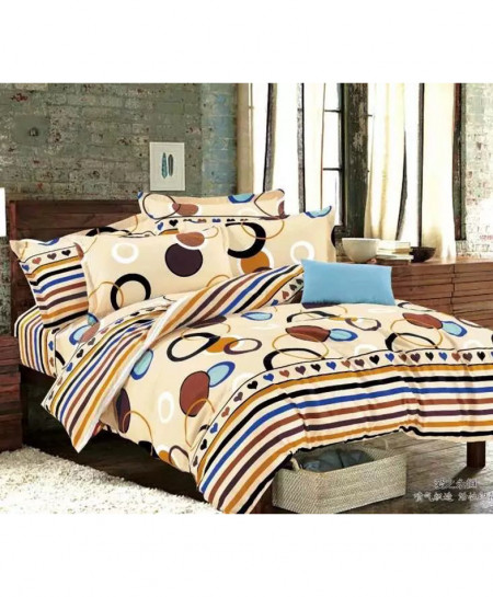 Cream Laser Print Design Cotton Bedsheet CB-053