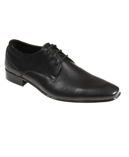 Black Leather Stylish Formal Shoes FIL-T24