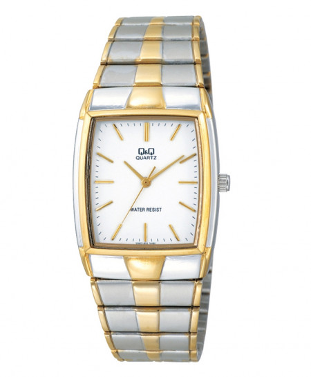 Q and Q Analog Two Tone Wrist Watch VN62-401