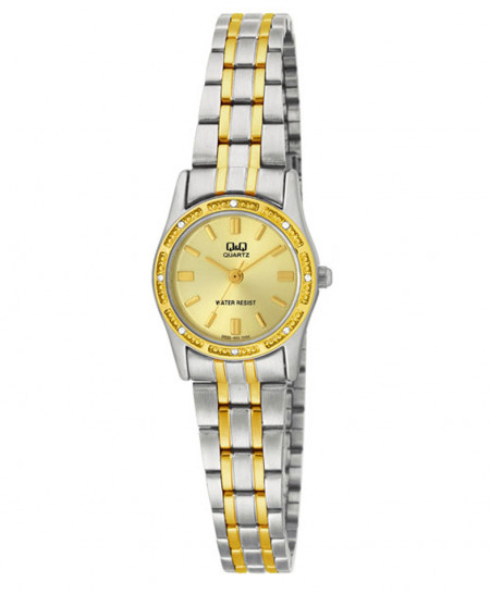 Q and Q Two Tone Ladies Watch Q695-J400