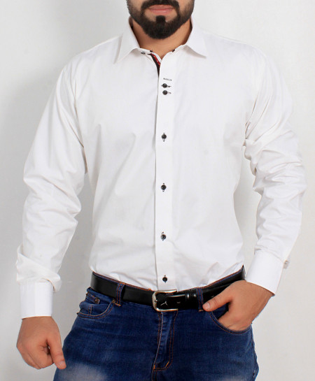 White Cotton Shirt PSM-024