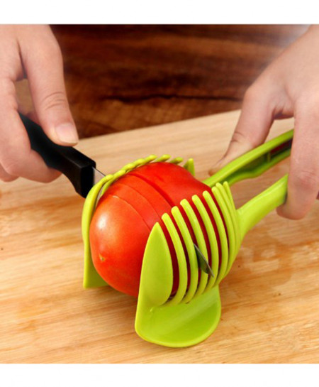 Green Vegetable Fruit Slicer Cutter and Holder