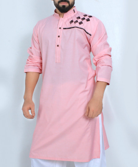 Pink Stylish Design Kurta Shalwar SJL-041