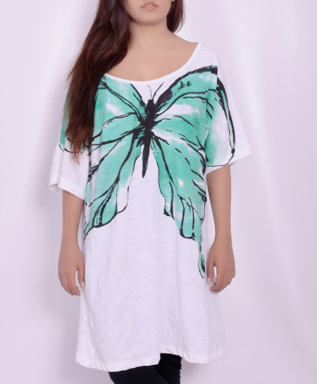 Aqua White Ladies Tops with Black Trousers FSF-0020