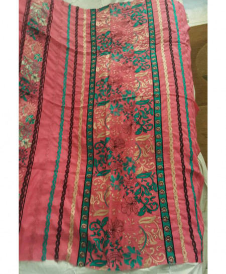 Dark Pink Embroidered Stylish Unstitched Suit NMS-127