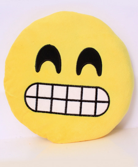 Grimacing Face With Smiling Eyes Emoji Pillow RB-5001