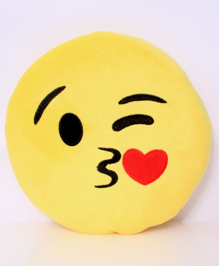 Kissing Heart Emoji Face Pillow RB-5006