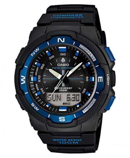 Casio Black Blue Stylish Watch SGW-500H-2BVDR