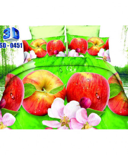 3D Yellow Apple Stylish Cotton Bedsheet RB-0451