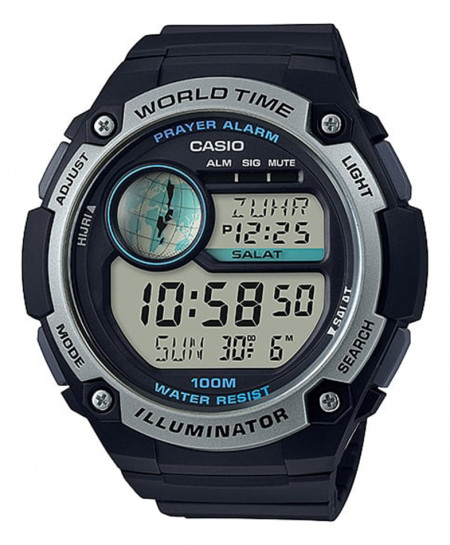 Casio Mens Watch With Prayer Compass CPA-100-1AV