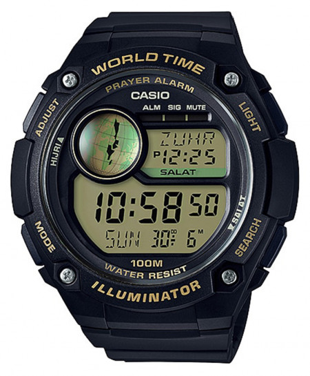 Casio Mens Watch With Prayer Compass CPA-100-9AV