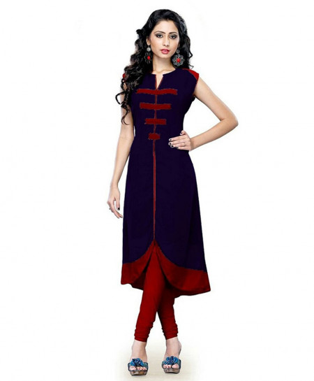 Navy Maroon Airline Style Ladies Kurti FLK-218