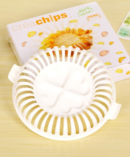 DIY Low Calories Microwave Baked Potato Chips Rack