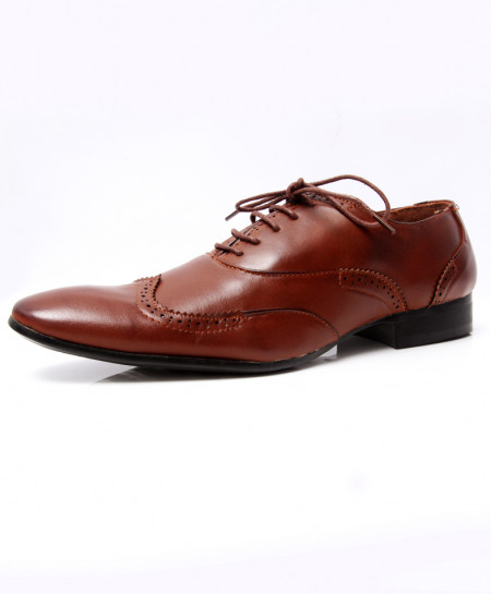 Choco Brown Stylish Design Formal Shoes LW-7033