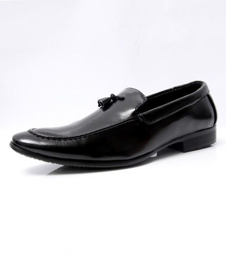Plain Black Tassels Design Formal Shoes LW-7040