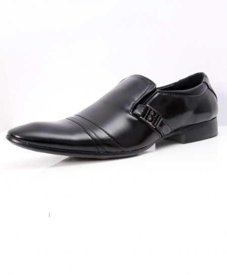 Black Side Buckle Design Formal Shoes LW-7074