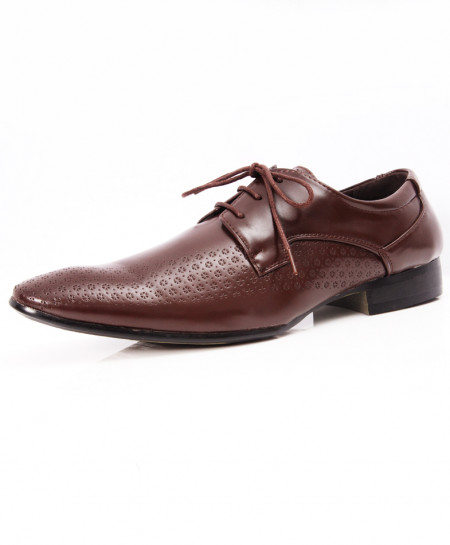 Choco Brown Stylish Design Formal Shoes LW-7076