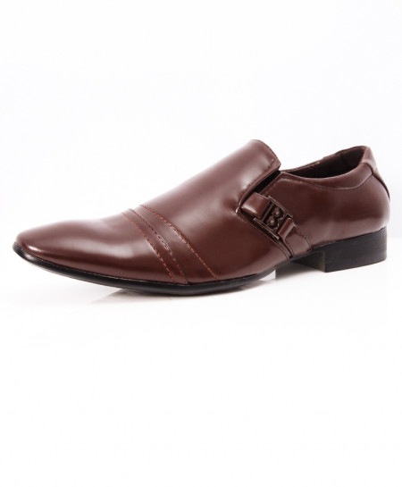 Choco Brown Stylish Design Formal Shoes LW-7078
