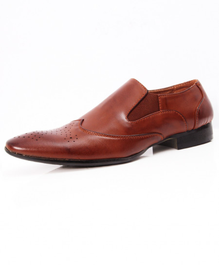 Brown Shaded Stylish Design Formal Shoes LW-7087