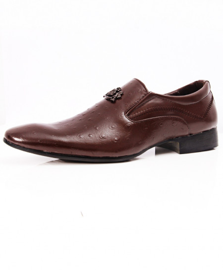 Choco Brown Stylish Design Formal Shoes LW-7097