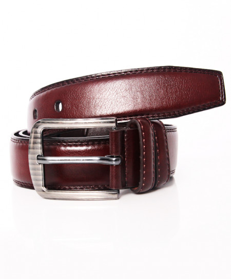 Choco Brown Buckle Design Stylish Belt NR-014