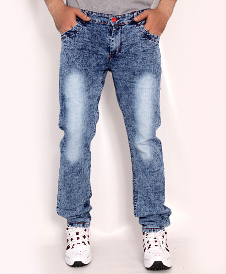 Greyish Blue Faded Stylish Denim Jeans RDI-2817