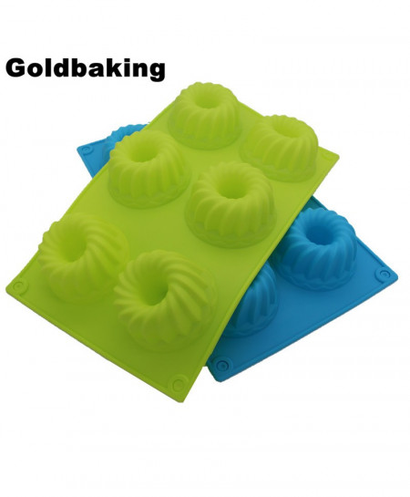 GoldBaking 6 Cavities Silicone Cake Mold