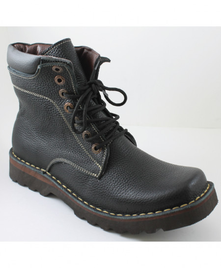 Corio Black Leather Men Ankle High Casual Boots CSR-006N