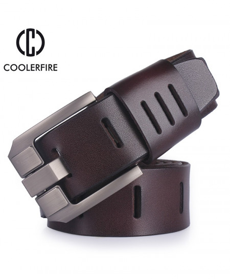 Brown Cow Leather Designer Belt AR-569