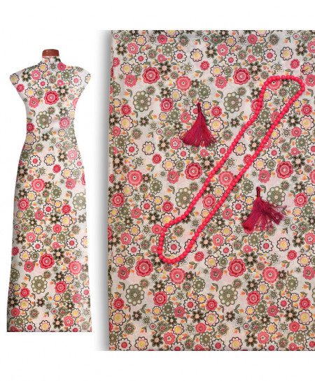 Sandy Pink Printed Lawn Ladies Unstitched Kurti AU-26