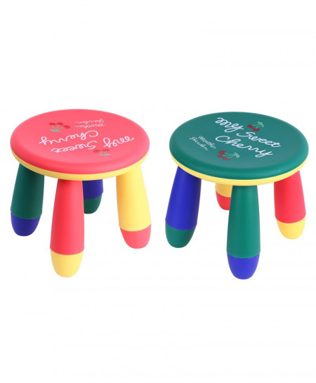 Colorful Cute Baby Round Assembly Table Stool Seat