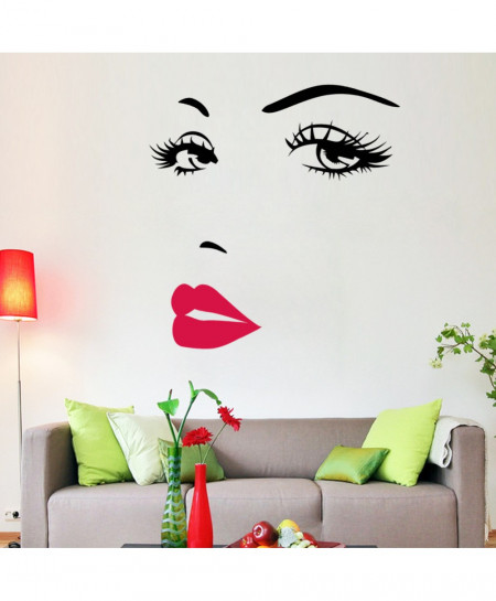 Hot Pink lips Marilyn Monroe Quote Vinyl Wall Sticker