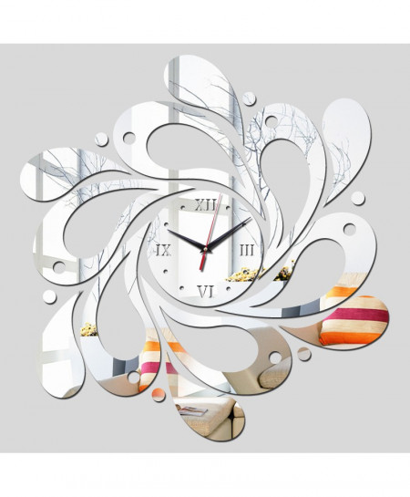 DIY Silver Mirror Effect Acrylic Wall Clocks AR-987