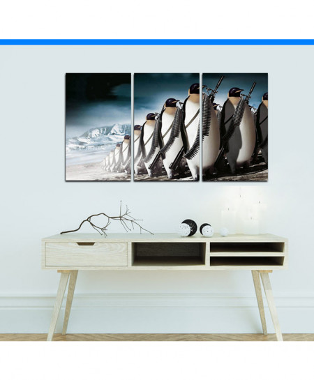 Penguin Canvas Wall Frame BNS-122